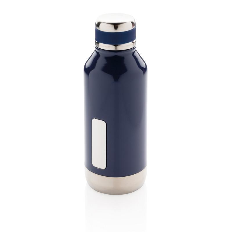 Герметичная вакуумная бутылка с шильдиком, синий, , высота 20,3 см., диаметр 7,5 см., P436.675