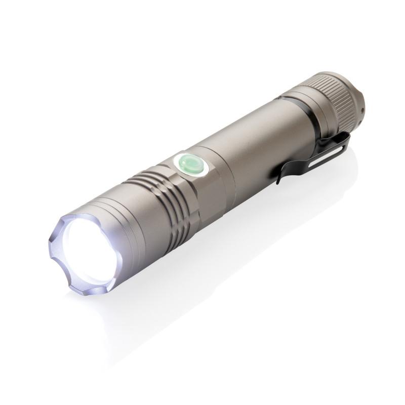 Аккумуляторный фонарь 3W, серый, , высота 14,2 см., диаметр 2,7 см., P513.591