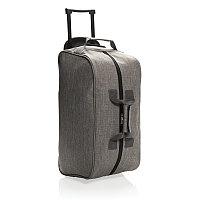 Дорожная сумка на колесах Basic, серая, серый, Длина 55 см., ширина 26 см., высота 28 см., P790.202, фото 1