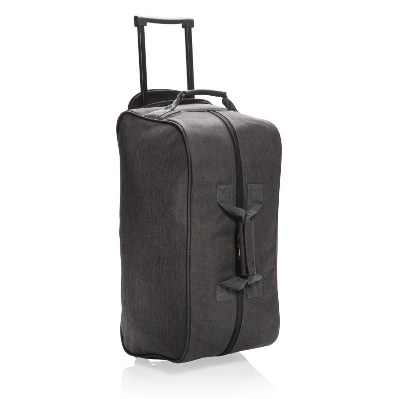 Дорожная сумка на колесах Basic, черная, темно-серый, Длина 55 см., ширина 26 см., высота 28 см., P790.201