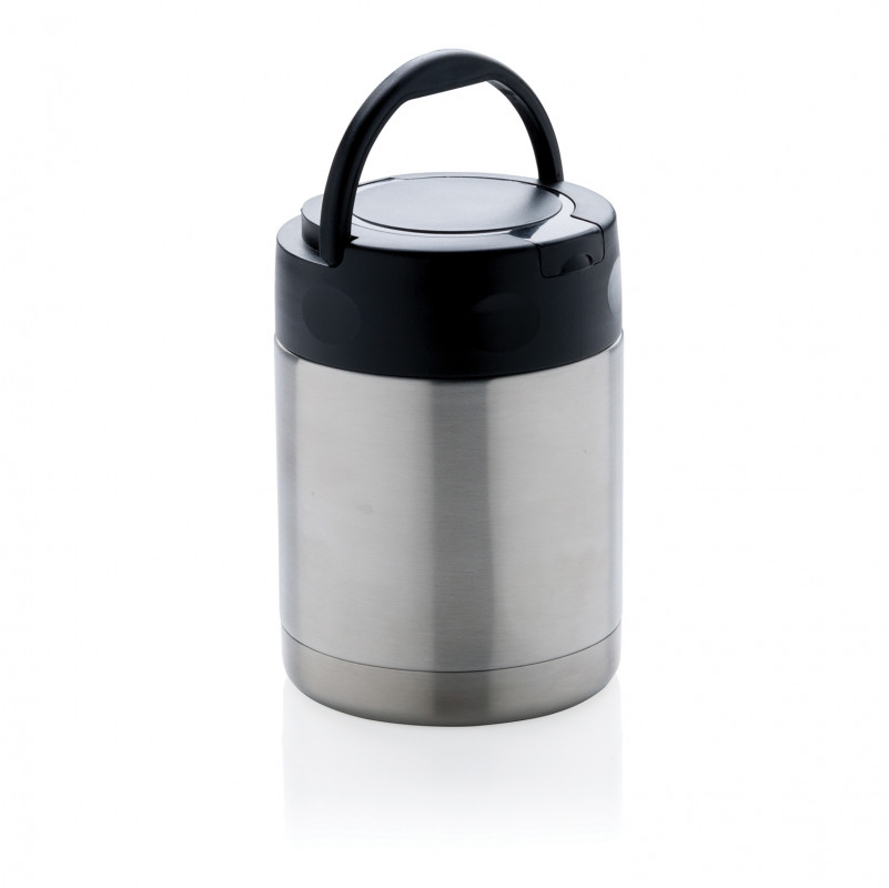 Вакуумный контейнер для еды, серебряный, , высота 12,5 см., диаметр 9 см., P432.992
