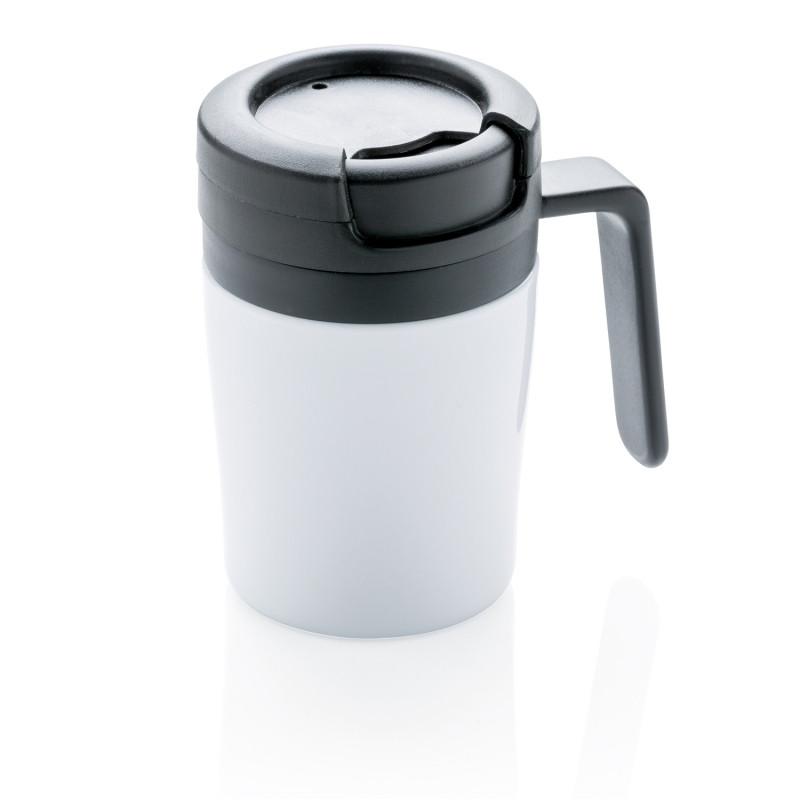 Термокружка с ручкой Coffee-to-go, белый, белый, , высота 10 см., диаметр 7 см., P432.943