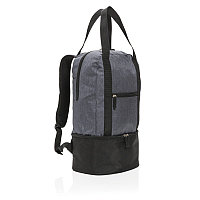 Рюкзак-холодильник 3 в 1, серый; черный, Длина 26 см., ширина 17 см., высота 45 см., P422.092