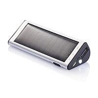 Зарядное устройство на солнечной батарее, 2200 mAh, серебряный, Длина 2,4 см., ширина 3,8 см., высота 9,7 см.,