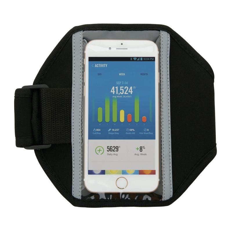 Спортивный чехол для телефона на руку Basic, черный, Длина 17 см., ширина 0,2 см., высота 18 см., P320.181