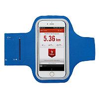 Спортивный чехол для телефона на руку, синий; черный, Длина 7,5 см., ширина 1 см., высота 34 см., P320.755