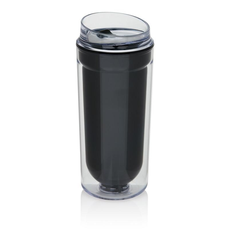 Термокружка с двойными стенками, черный, , высота 20 см., диаметр 8,5 см., P432.871