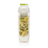 Бутылка для воды с контейнером для фруктов, 500 мл, зеленый, , высота 22,7 см., диаметр 6 см., P436.817