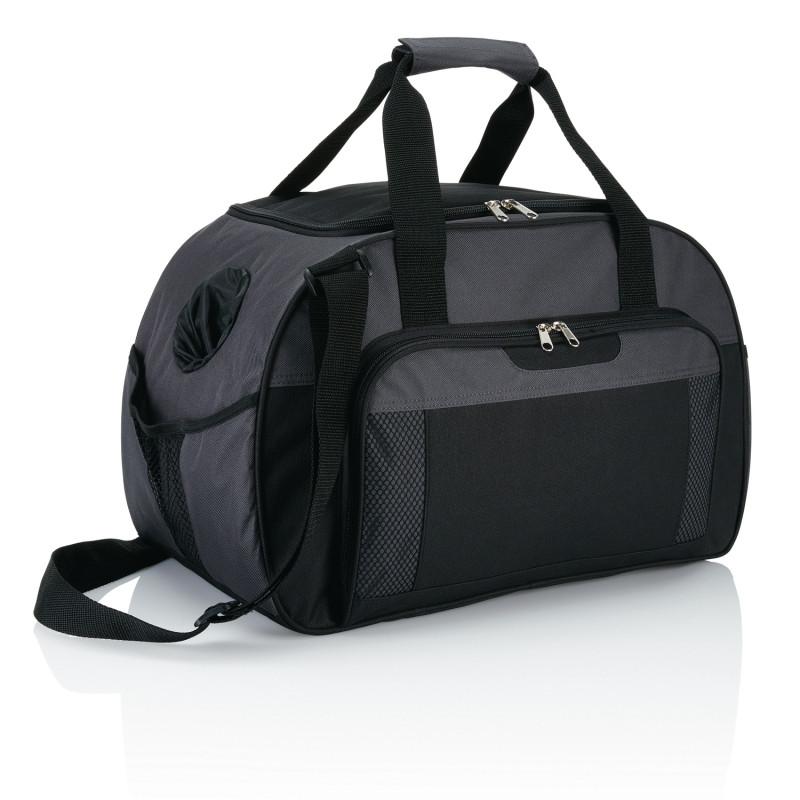 Дорожная сумка Supreme, темно-серый; черный, Длина 24,5 см., ширина 29 см., высота 46 см., P707.342