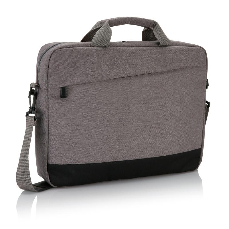 """Сумка для ноутбука 15"""" Trend, серый; черный, Длина 8 см., ширина 30 см., высота 39 см., P732.342"""