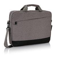 """Сумка для ноутбука 15"""" Trend, серый; черный, Длина 8 см., ширина 30 см., высота 39 см., P732.342, фото 1"""