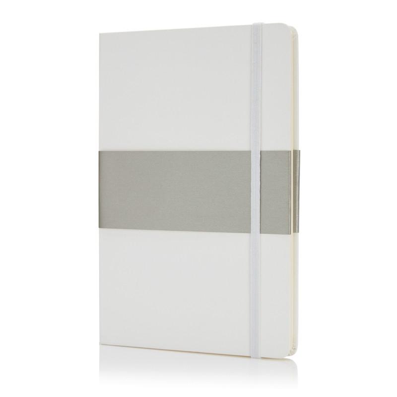Блокнот в твердой обложке формата A5, белый, белый, Длина 21,3 см., ширина 14,5 см., высота 1,6 см., P773.533