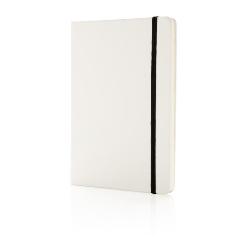 Блокнот для записей Basic в твердой обложке PU, А5, белый, Длина 1,3 см., ширина 14,5 см., высота 21 см.,