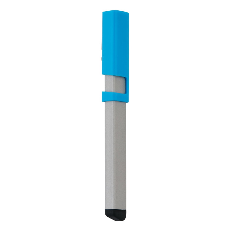 Ручка-стилус Kube 4 в 1, синий, синий, Длина 2,3 см., ширина 4,3 см., высота 17 см., P610.095
