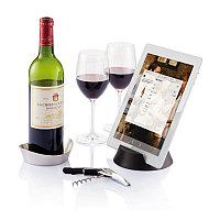 Набор для вина Airo Tech, серебряный; черный, Длина 13 см., ширина 13 см., высота 9 см., P911.602