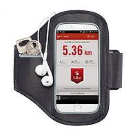 Спортивный чехол для телефона на руку, черный; серый, Длина 16 см., ширина 0,2 см., высота 15,5 см., P320.191