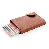 Кошелек с держателем для карт C-Secure RFID, коричневый, коричневый; серебряный, Длина 9,5 см., ширина 6,8