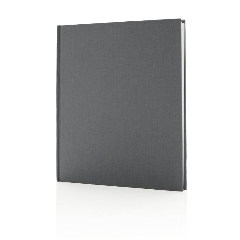 Блокнот Deluxe 210x240мм, серый, серый, Длина 24 см., ширина 21 см., высота 1,5 см., P773.902