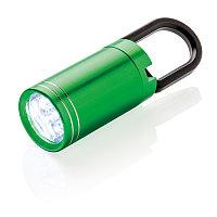 LED-фонарик Pull it, зеленый; черный, , высота 8 см., диаметр 2,5 см., P513.317