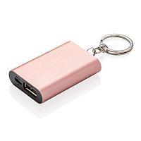 Зарядное устройство на 1 000 мАч с брелком, розовый, розовый, Длина 1,2 см., ширина 3,6 см., высота 5,4 см.,