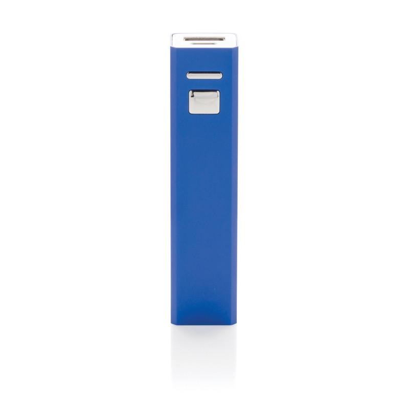 Универсальное зарядное устройство 2200 mAh, темно-синий, синий, Длина 9,5 см., ширина 2,2 см., высота 2,2 см.,