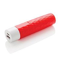 Зарядное устройство Geometric, 2200 mAh, красный, , ширина 2,6 см., высота 10,4 см., P324.544