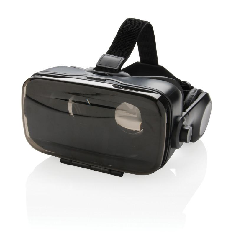 Очки Virtual reality со встроенными беспроводными наушниками, черный, Длина 21 см., ширина 22 см., высота 10