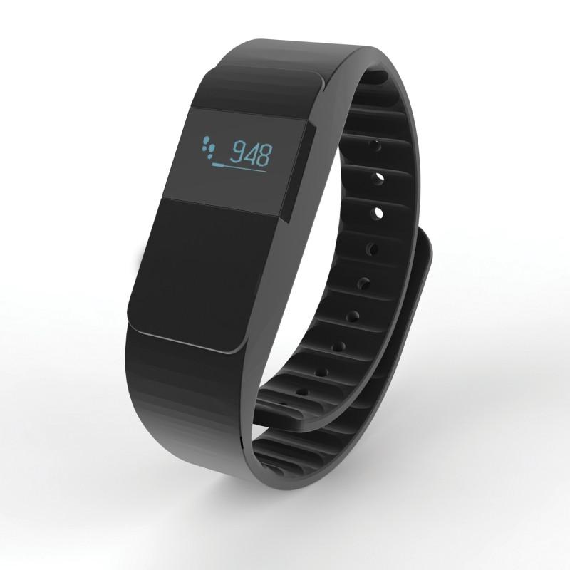 Фитнес-браслет Keep Fit, черный, черный, Длина 26,5 см., ширина 2 см., высота 1 см., P330.751