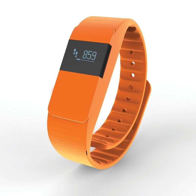 Фитнес-браслет Keep Fit, оранжевый, оранжевый, Длина 26,5 см., ширина 2 см., высота 1 см., P330.758