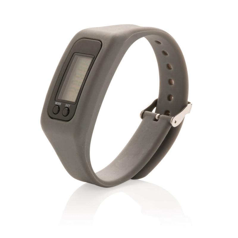 Фитнес-браслет Keep fit, темно-серый, Длина 1,4 см., ширина 2,7 см., высота 25 см., P410.552