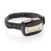 Налобный фонарь COB (Chip-on-Board), черный, Длина 5 см., ширина 6,7 см., высота 4 см., P513.691