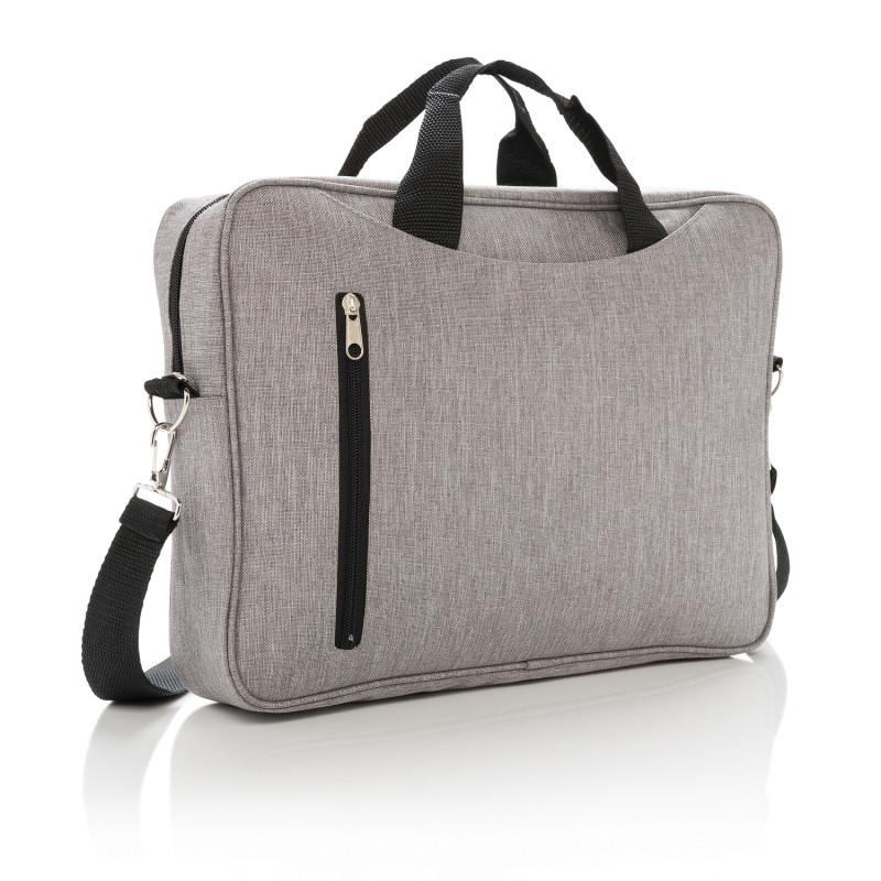 """Сумка для ноутбука Classic 15"""", серый, Длина 8 см., ширина 38 см., высота 28 см., P730.022"""