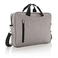 """Сумка для ноутбука Classic 15"""", серый, Длина 8 см., ширина 38 см., высота 28 см., P730.022, фото 1"""