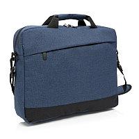 """Сумка для ноутбука Trend 15"""", темно-синий; черный, Длина 8 см., ширина 30 см., высота 39 см., P732.345"""