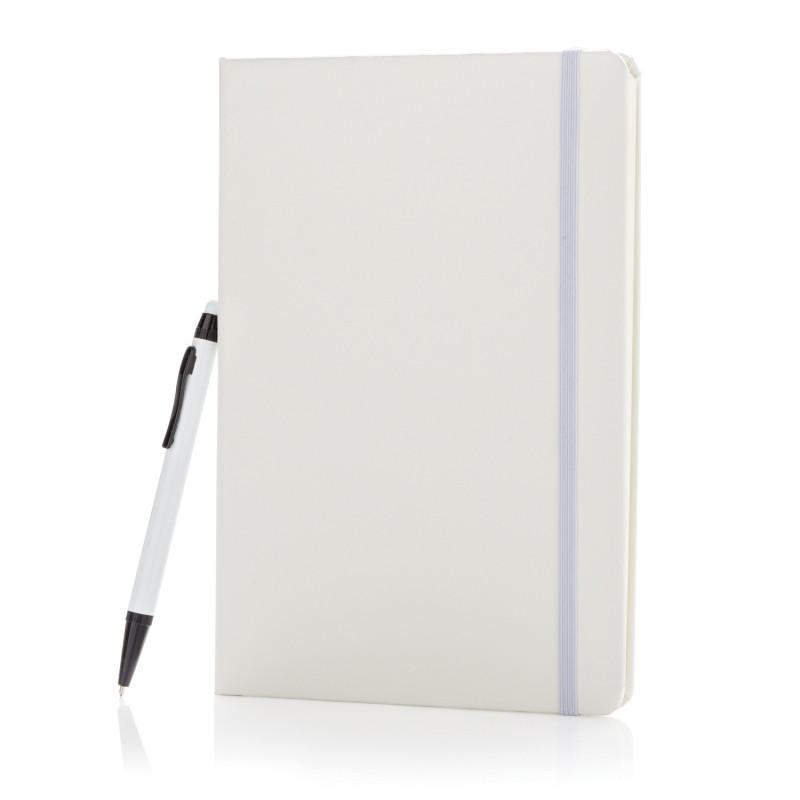 Блокнот для записей Basic и ручка-стилус, А5, белый, Длина 21 см., ширина 14,5 см., высота 1,3 см., P773.253