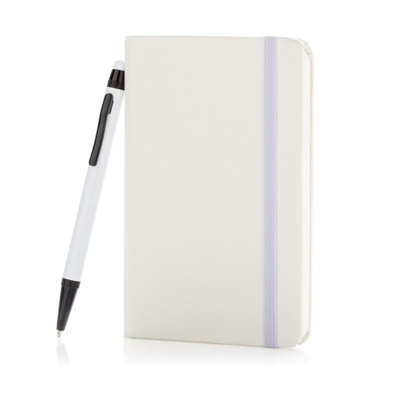 Блокнот для записей Basic в твердой обложке c ручкой-стилус, А6, белый, Длина 1,3 см., ширина 9,1 см., высота