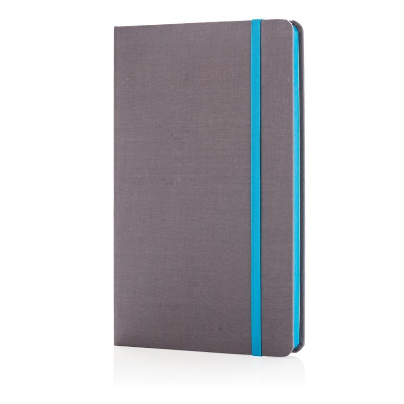 Блокнот для записей Deluxe fabric, А5, синий, Длина 2 см., ширина 13,3 см., высота 21,5 см., P773.285