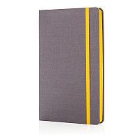 Блокнот для записей Deluxe fabric, А5, желтый, Длина 2 см., ширина 13,3 см., высота 21,5 см., P773.286, фото 1