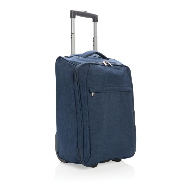 Складная сумка на колесах, синий, Длина 23 см., ширина 34 см., высота 50 см., P787.025