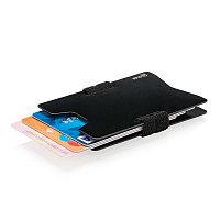 Алюминиевый чехол для карт с защитой от сканирования RFID, черный, , ширина 5,8 см., высота 8,8 см., P820.461