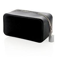 Непромокаемая силиконовая косметичка, черная, черный; серый, Длина 19,4 см., ширина 10,2 см., высота 10 см.,