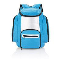 Рюкзак-холодильник, синий, синий; серебряный, Длина 40 см., ширина 32 см., высота 16,5 см., P733.185