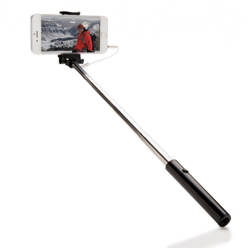 Монопод-штатив для селфи Pocket, черный, черный, Длина 2,3 см., ширина 4,5 см., высота 14,5 см., P301.201