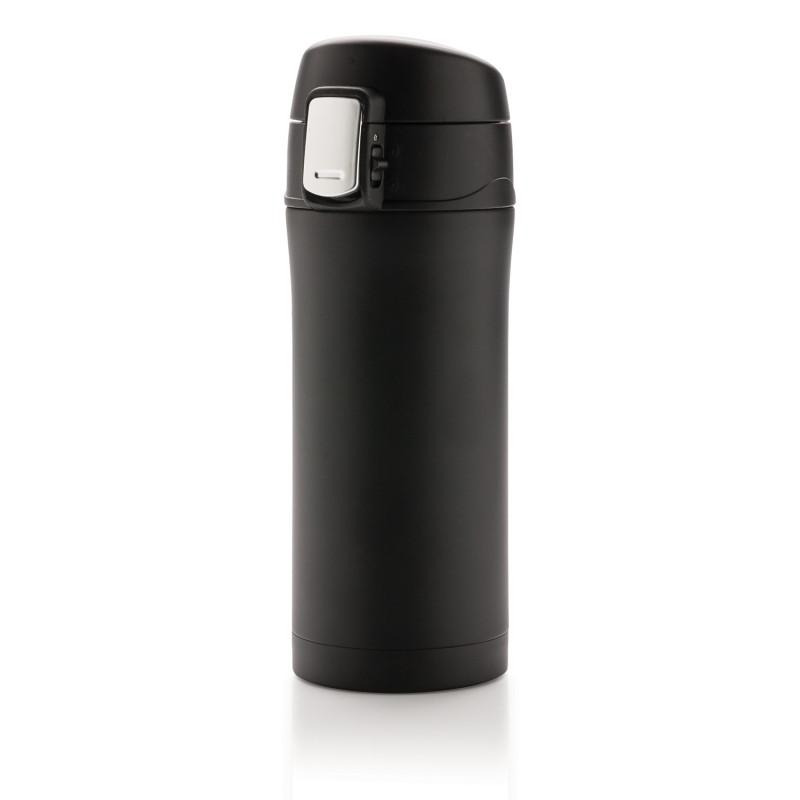 Термокружка Easy lock, 300 мл, черный, черный, , высота 19 см., диаметр 6,5 см., P432.651