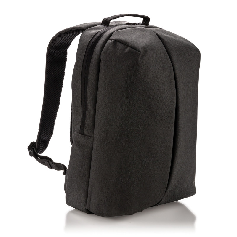 Рюкзак Smart, черный, черный, Длина 16 см., ширина 30 см., высота 45 см., P732.041