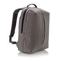 Рюкзак Smart, серый, серый; зеленый, Длина 16 см., ширина 30 см., высота 45 см., P732.042, фото 1