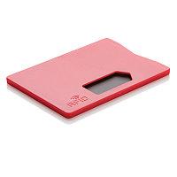 Держатель для карт RFID, красный, красный, Длина 8,5 см., ширина 5,3 см., высота 0,4 см., P820.324