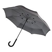 Двусторонний зонт, 23, серый, , ширина 4,5 см., высота 80 см., диаметр 115 см., P850.031, фото 1