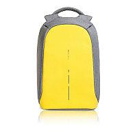 Рюкзак Bobby Compact с защитой от карманников, желтый, желтый, Длина 28 см., ширина 14 см., высота 39 см.,
