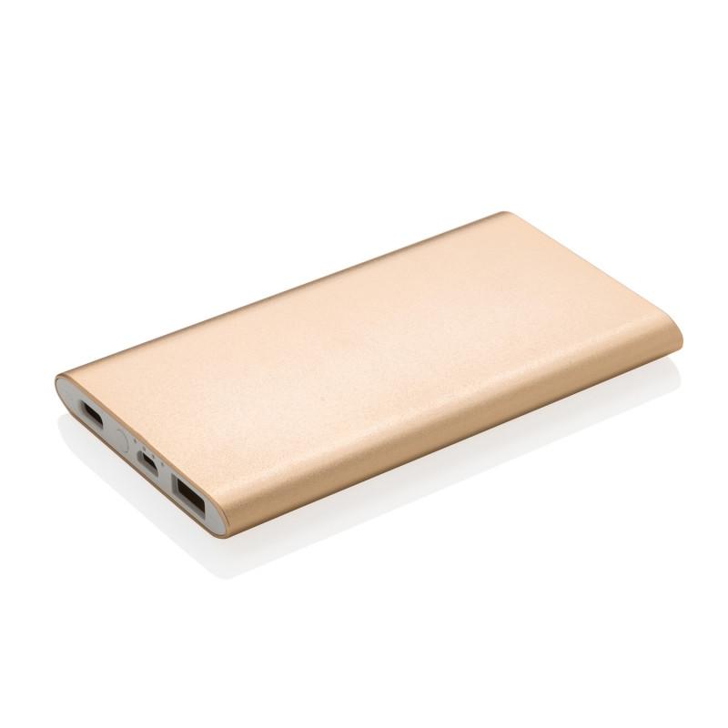 Зарядное устройство Type-C на 4000 мАч, золотой, золотой, Длина 1 см., ширина 6,8 см., высота 12 см., P324.266